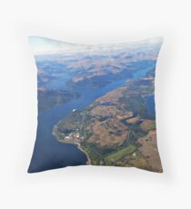 Loch Long Scottish Highlands Throw Pillow