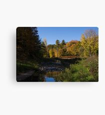 Rusty Little Bridge Complementing the Fall Colors Canvas Print
