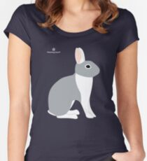 Lilac White Eared Rabbit Women's Fitted Scoop T-Shirt