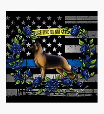Thin Blue Line Flag Photographic Print