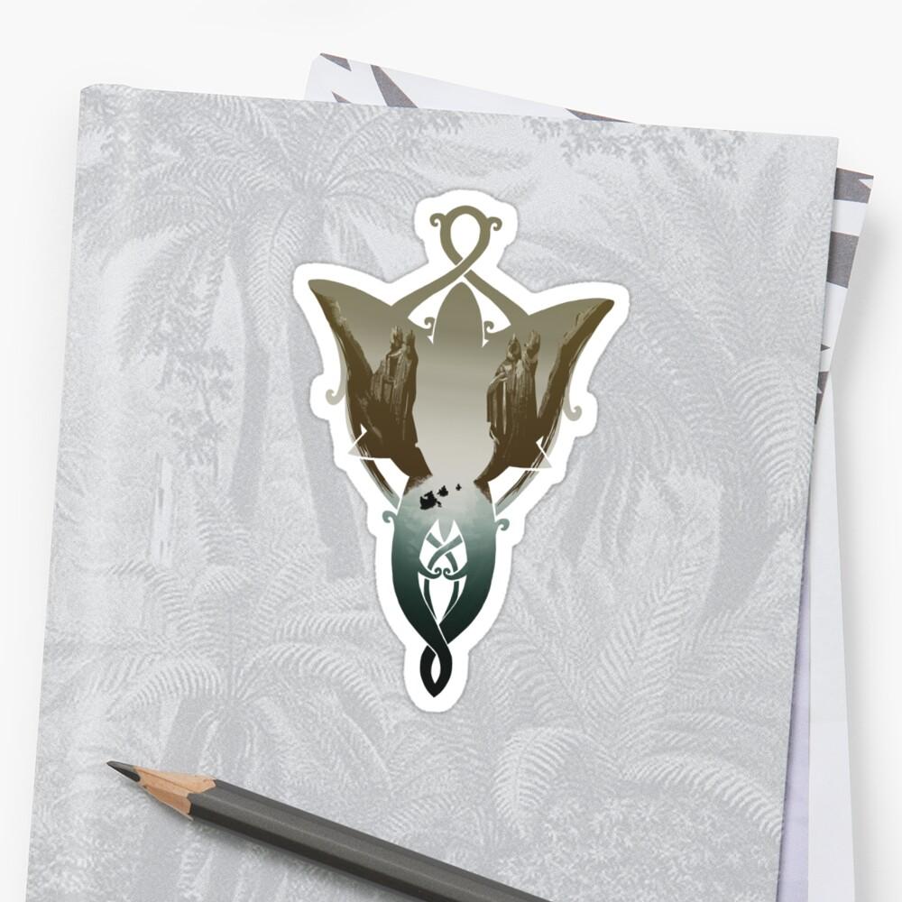Evenstar im Argonath 2.0 Sticker