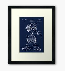 Antique Welders Goggles blueprint drawing Framed Print