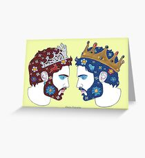 """Mirror, mirror on the wall, who is the fairest queen of them all"" Greeting Card"