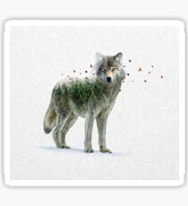 Wild I Shall Stay | Wolf Sticker