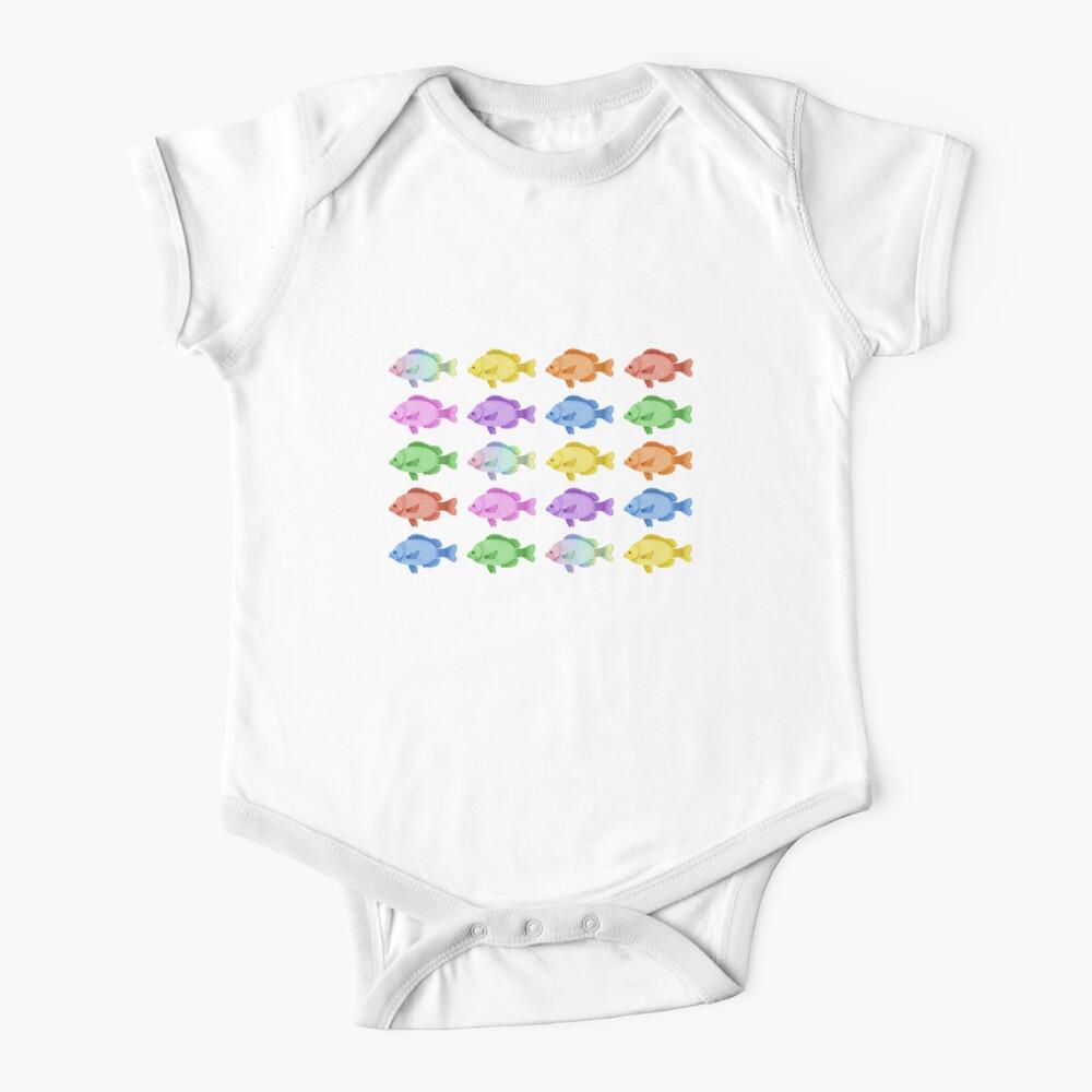 Peces multicolores Body para bebé