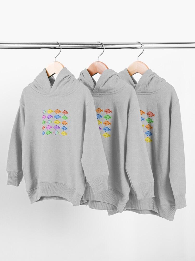 Vista alternativa de Sudadera con capucha para bebé Peces multicolores