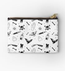 A Few of My Macabre Things (on white) Studio Pouch