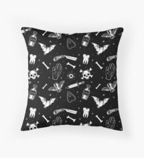 A Few of My Macabre Things Throw Pillow