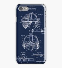 Antique Welders Goggles blueprint drawing iPhone Case/Skin