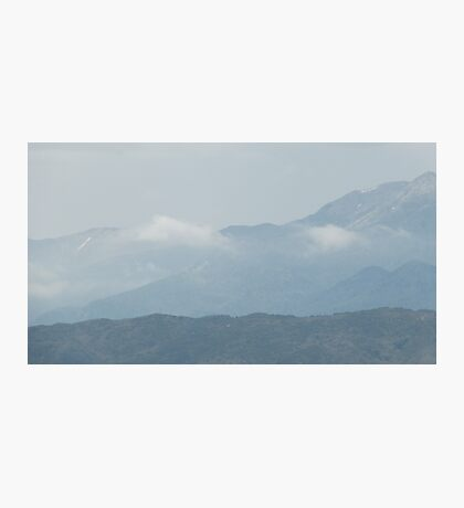 Cloudy Mountain Photographic Print