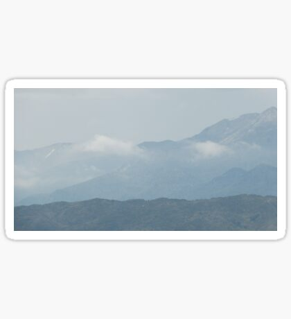 Cloudy Mountain Sticker
