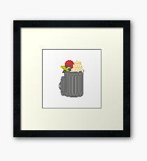 Your Trash Goes Here Pixel Art Illustration Framed Print
