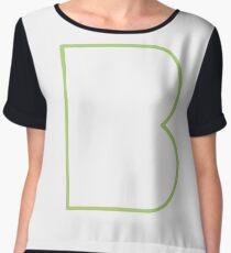 B line - Green Chiffon Top