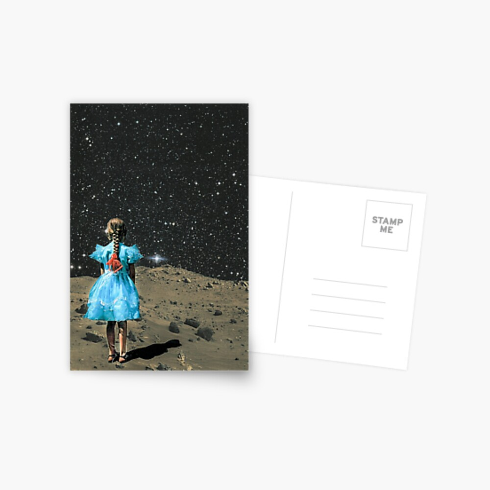 Raum-Mädchen Postkarte