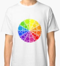 Color wheel palette or color circle isolated. The physical representation of color transitions and HSB. Classic T-Shirt