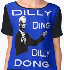 The Tinkerman says Dilly Ding Dilly Dong Chiffon Top