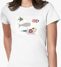 All the Fish in the Sea Womens Fitted T-Shirt