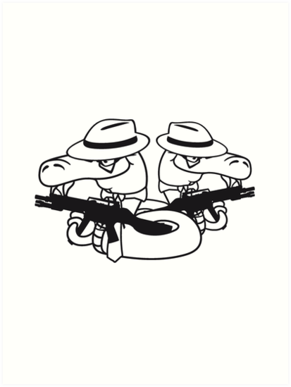 2 Gangster Team Buddies Crew Mafia Violence Weapon Machine Gun