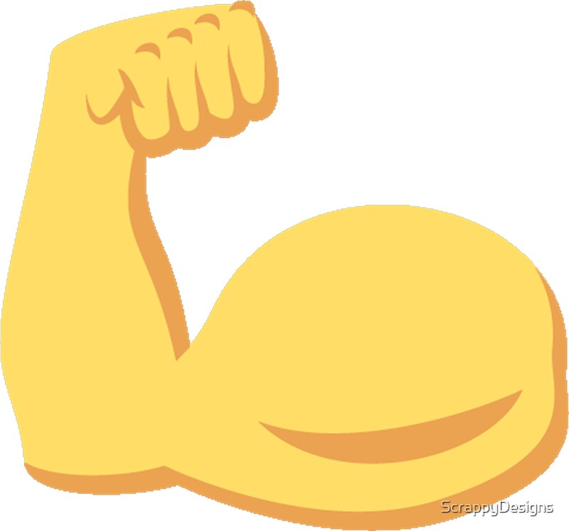 how to draw a muscle arm emoji