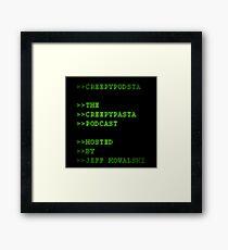 CreepyPodsta Podcast Logo Framed Print