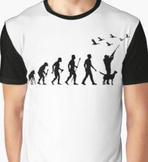 Duck Hunting Evolution Of Man Graphic T-Shirt