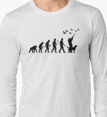Duck Hunting Evolution Of Man Long Sleeve T-Shirt