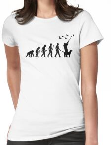 Duck Hunting Evolution Of Man Womens Fitted T-Shirt
