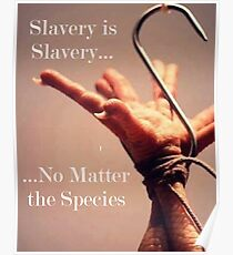 Slavery is Slavery, No Matter the Species Poster