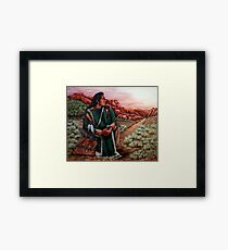 Listening To The Spirits, The Painting Framed Print