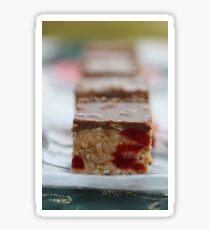 Cherry & Toasted Almond Slice. Sticker