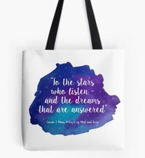 A Court of Mist and Fury - Watercolour Quote Tote Bag