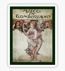 Alice Holding Flamingo Book Cover Sticker