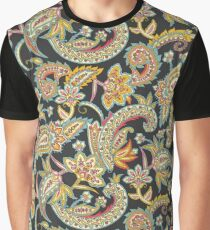 NOMAD PAISLEY - CHARCOAL Graphic T-Shirt