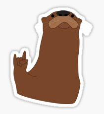 Rock and Roll Otter Sticker