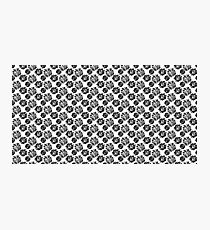 Black and White Flower Pattern Photographic Print