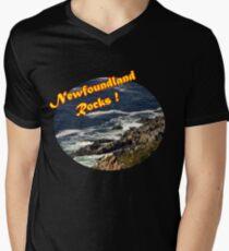 Newfoundland Rocks Mens V-Neck T-Shirt