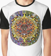 Aztec Calendar Sun Stone - Full Color Graphic T-Shirt