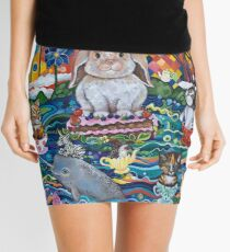 Ocean tea-party Mini Skirt