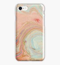 Marble Swirl- peach iPhone Case/Skin