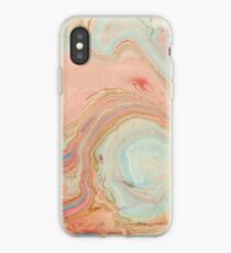 Marble Swirl- peach iPhone Case