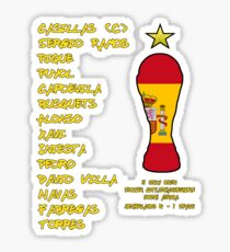 Spain 2010 World Cup Final Winners Sticker