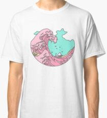 Japanese pastel kawaii Kanagawa anime meme surf beach wave Classic T-Shirt