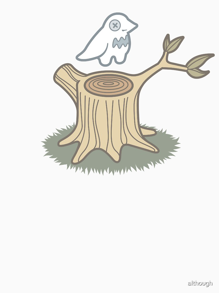 ghost bird and tree trunk by although