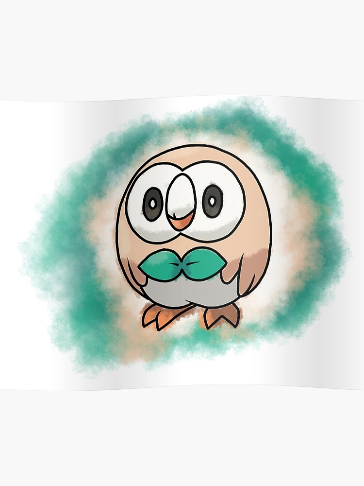 Rowlet Pokemon Sun And Moon Starter Poster By Erik1850 Redbubble