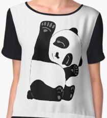 Waving Panda Women's Chiffon Top