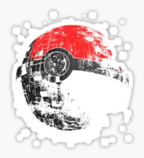 Pokeball Death Star Sticker