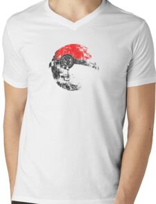 Pokeball Death Star Mens V-Neck T-Shirt