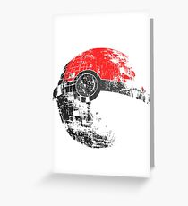 Pokeball Death Star Greeting Card