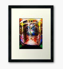 kimball train, brown line, chicago Framed Print