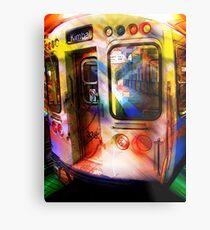 kimball train, brown line, chicago Metal Print